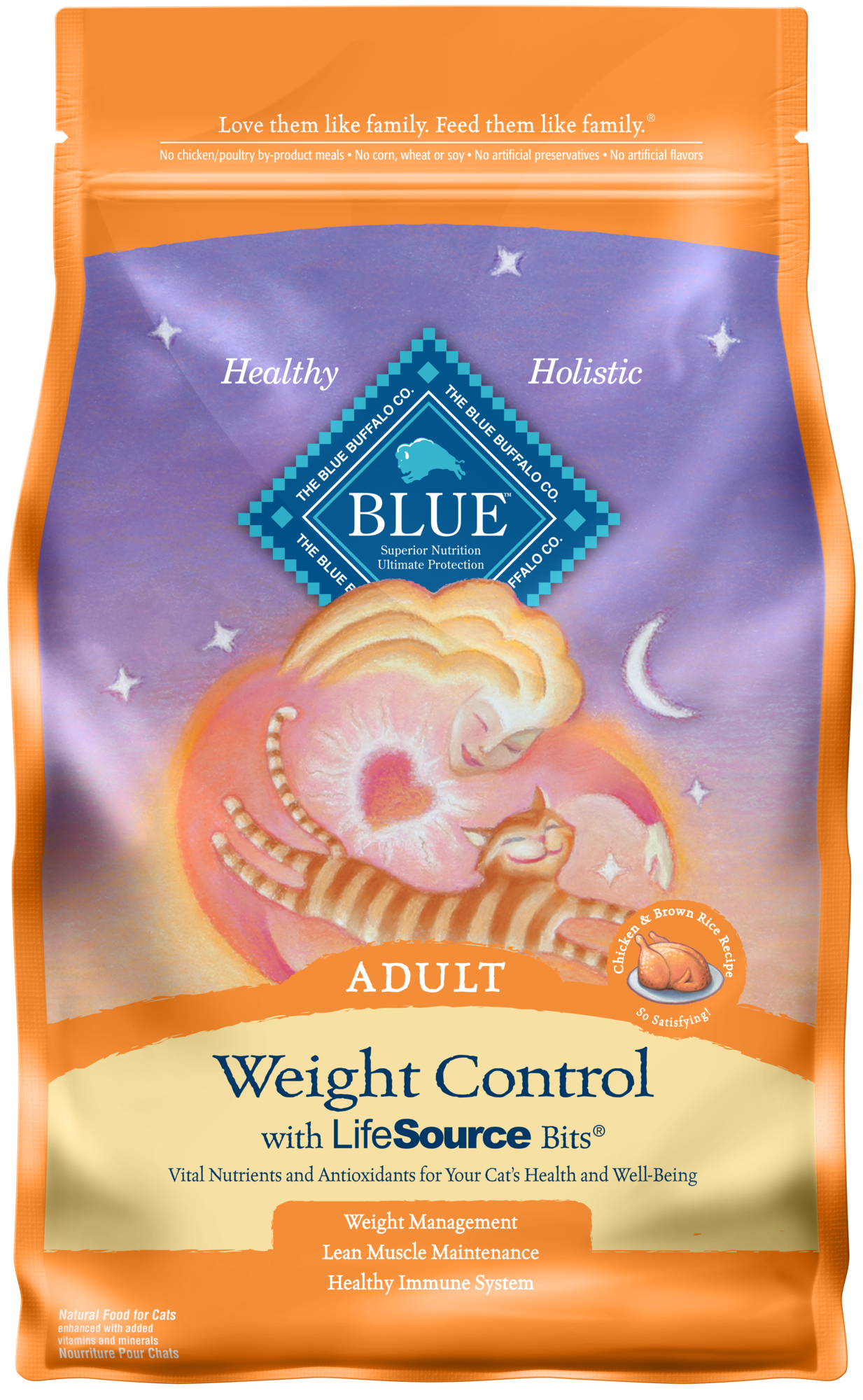 Blue Buffalo BLUE Weight Control All Breeds Adult Dry Cat Food, Chicken & Brown Rice Recipe, 15-lb by Blue Buffalo