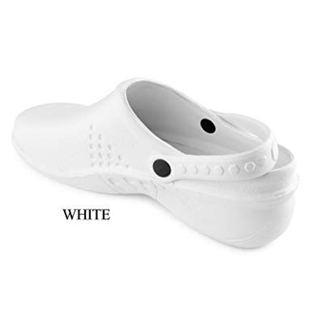 DSF Lightweight Nursing Clogs Open Back Strap Medical Uniform Shoes Chef
