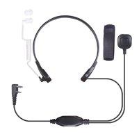 Throat Microphone Mic Air Tube Headset Earpiece for Baofeng Walkie Talkie CB Radio UV-5R UV B5 GT-3TP UV-5X
