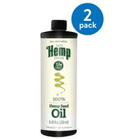 (2 Pack) Just Hemp Foods Hemp Seed Oil, 8.5 Fl Oz (Plastic Bottle)