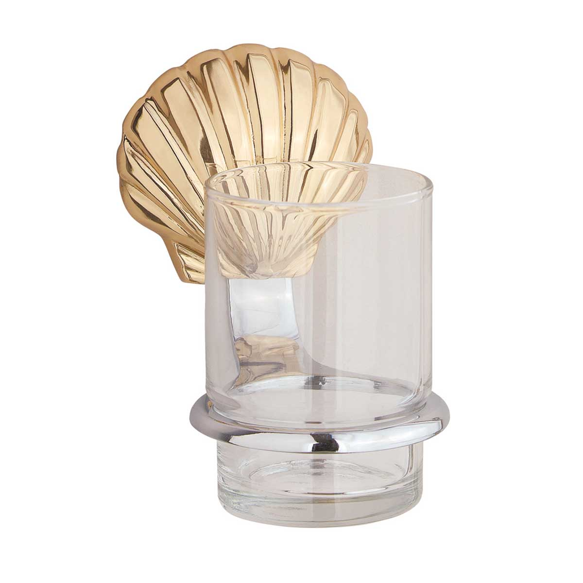 Classic Tumbler Cup Holder Sea Crest Solid Brass Holder | Renovator's Supply
