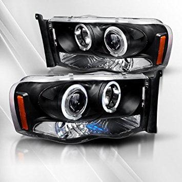 Dodge Ram 1500 02 03 04 05/2500&3500 03 04 05 Projector Headlights /w Halo/Angel-Eyes ~ pair set