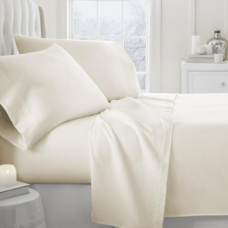 - Noble Linens Premium 4 Piece Ultra Soft Flannel Bed Sheet Set