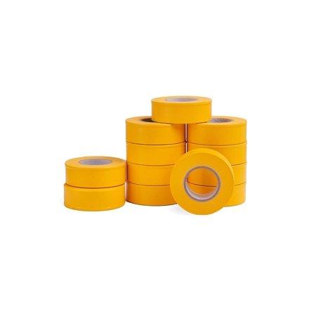 AdirPro 719-150-FLY, 12 Pack Fluorescent Flagging Tape, 150' X 1'' Wide - Multipurpose Neon Marking Tape -Fluorescent Yellow ()