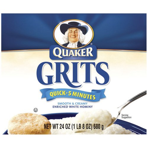 Quaker Quick Enriched White Hominy Grits, 24 Oz