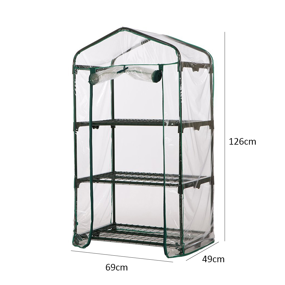 High-quality PVC Warm Garden 3 Tier Mini Household Plant Greenhouse Cover (without Iron Stand)