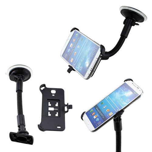 Car Vehicle Windshield Suction Cup Mount Rotating Holder for Samsung Galaxy S4 i9500