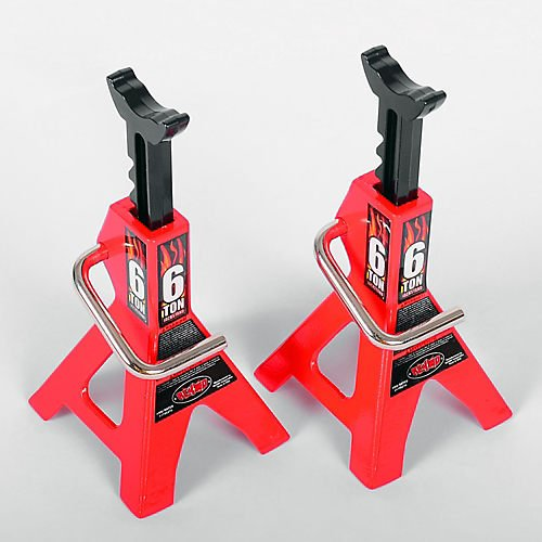 RC4WD 1/10 Scale 6 Ton Chubby Jackstands Red (2) Z-S0588 Multi-Colored