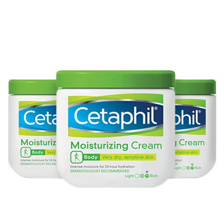 (3 Pack) Cetaphil Body Dry Sensitive Skin Moisturizing Cream, 16 Oz. (Free 16 Oz Body Emulsion)