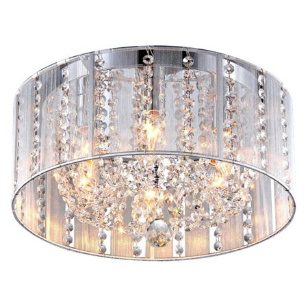 Monet Crystal (Addison White 16-inch Crystal Flush Mount )