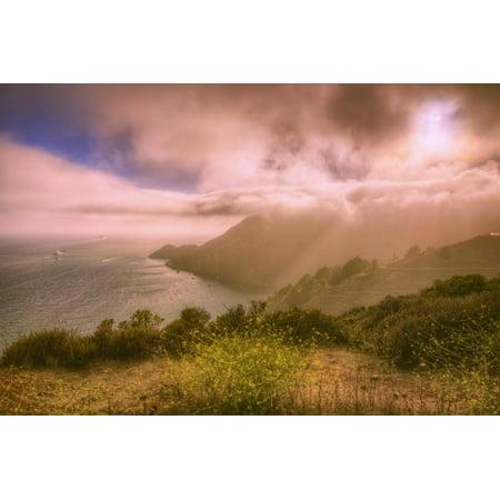 Dreamy Marin Headlands, San Francisco Bay Area Print Wall Art By Vincent