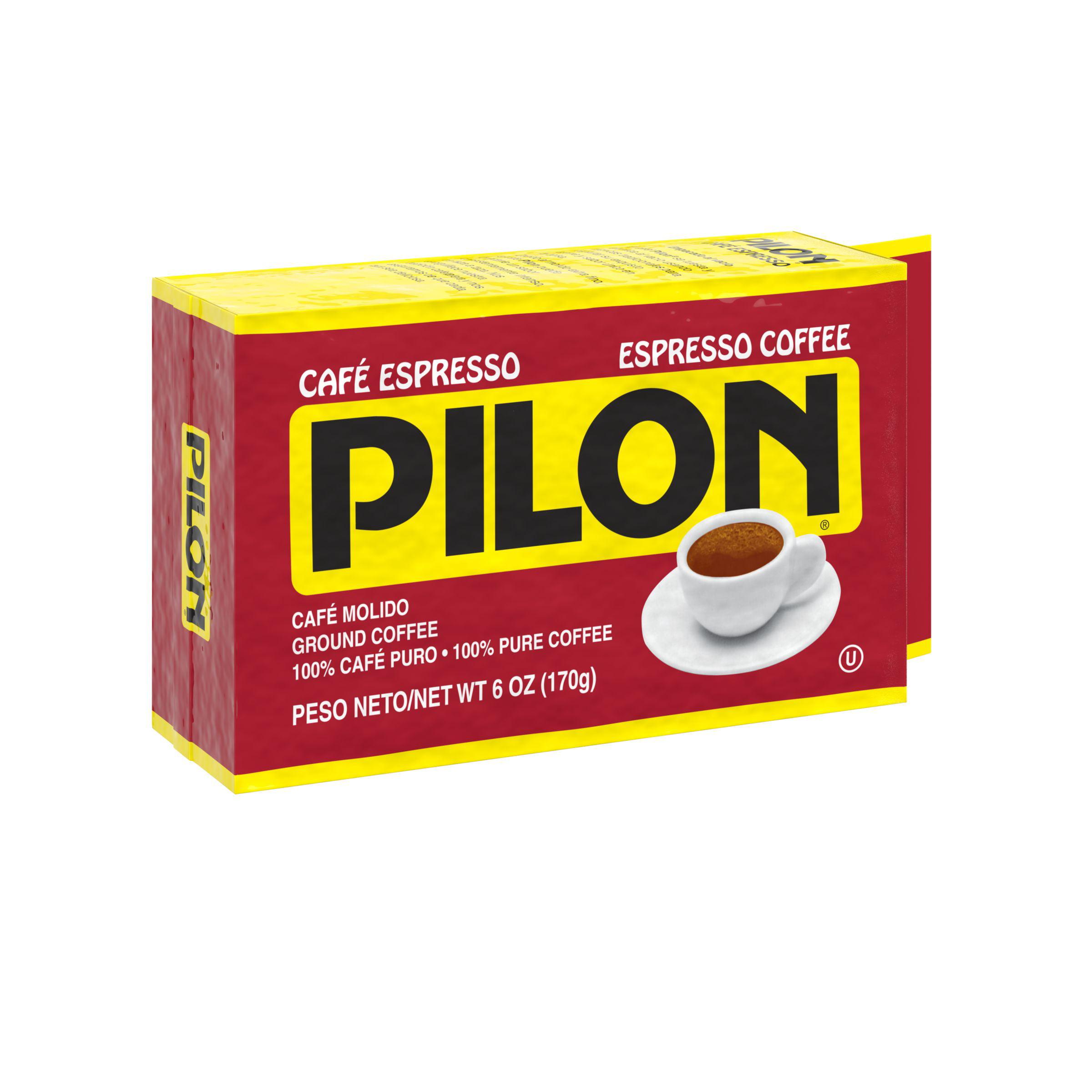 Pilon Ground Espresso Coffee, 6-Ounce Brick