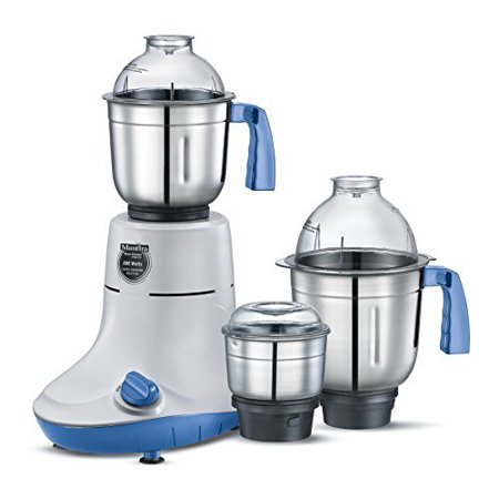 Prestige Manttra Powerful Mixer Grinder with 3 Stainless Steel Jars for Grinding and Juicing, 600 Watt,110 Volt for USA, PMG