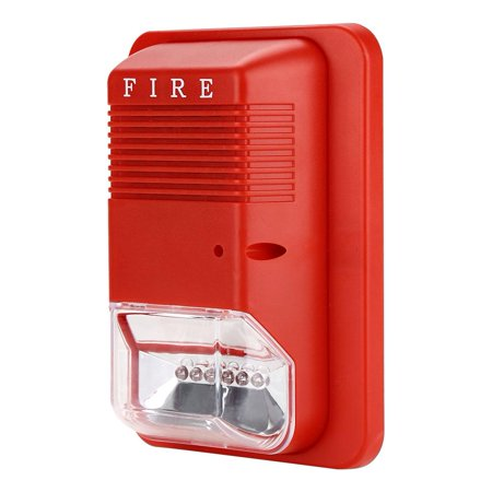 Dilwe Alert Fire Alarm Siren Sound & Strobe Alert Horn Security Safety System for Home Office Hotel - Alert Siren