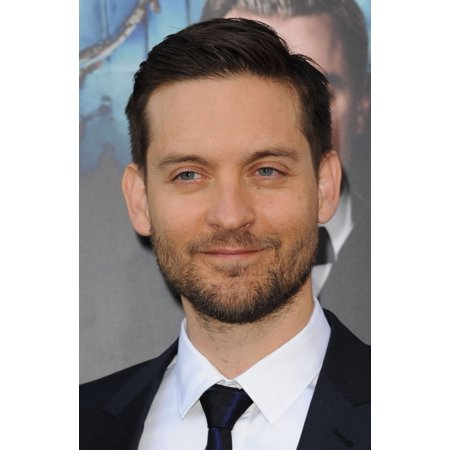 Stretched Canvas Art - Tobey Maguire At Arrivals For The Great Gatsby Premiere - Small 8 x 10 inch Wall Art Decor Size.
