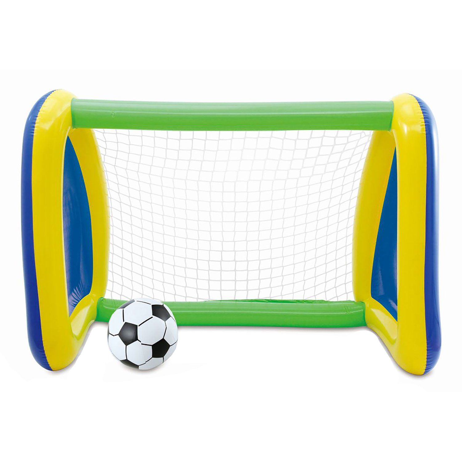 Big Play Sports Jumbo Inflatable Swimming Pool Goal and Ball Soccer Sports Set by Summer Waves