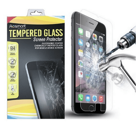 2 Pack For iPhone 6/6S/7/8 Premium Crystal Clear Tempered Glass Shatter Proof Protective Cover AmazingForLess