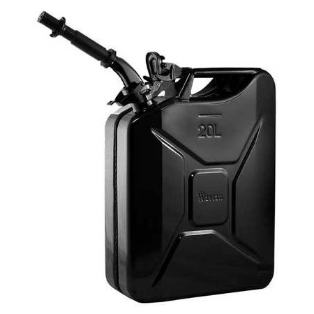 Wavian 3010 5.3 Gallon 20 Liter Authentic CARB Fuel Jerry Can with Spout, Black
