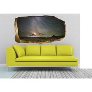 Startonight 3D Mural Wall Art Photo Decor Volcano Eruption Amazing Dual View Surprise Wall Mural Wallpaper Nature Wall Paper Art Gift Large 47.24 '' By 86.61 ''