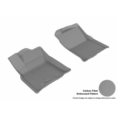 3D MAXpider 2016-2016 Toyota Tacoma Access Cab Front Row All Weather Floor Mats in Gray with Carbon Fiber (2016 Toyota Tacoma All Weather Floor Mats)