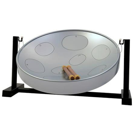 Panyard Jumbie Jam Table Top Steel Drum Kit Silver ()
