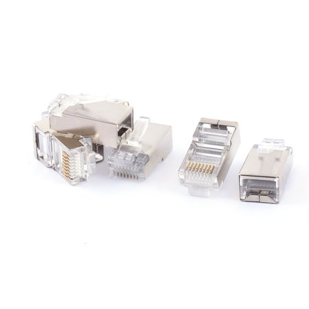 RJ45 8P8C CAT5 Modular Plug Network Crimp Adapter Ethernet Jack Connector