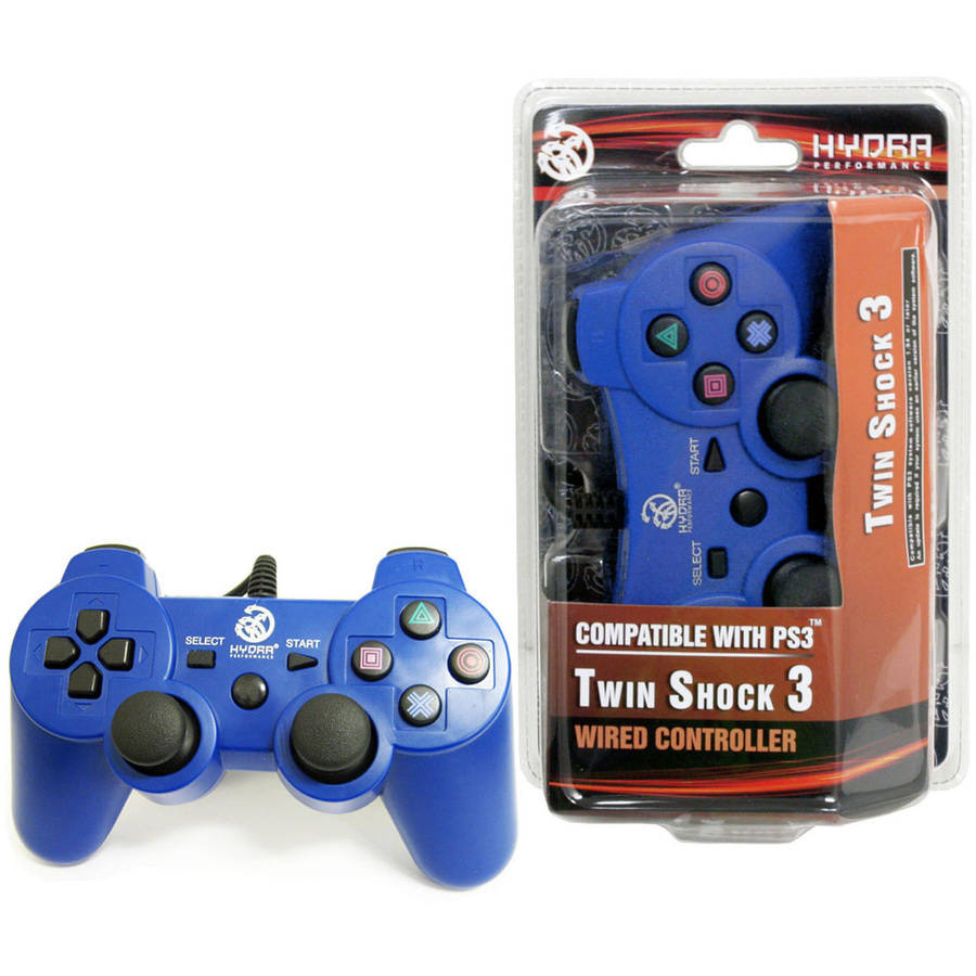 Hydra Performance 611888263199 PS3 Wired TwinShock 3, Blue