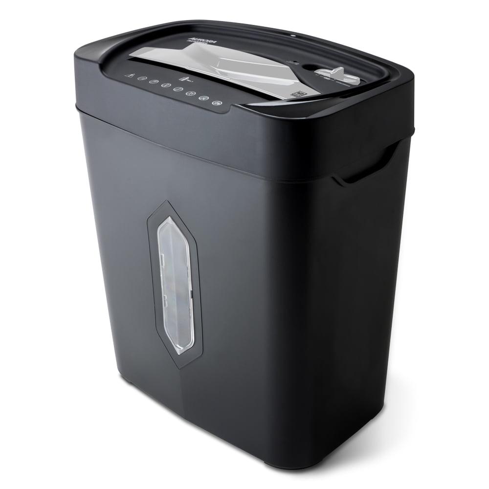 Aurora 12-Sheet Anti-Jam Crosscut Paper and Credit Card Shredder with 5.2-gallon Wastebasket