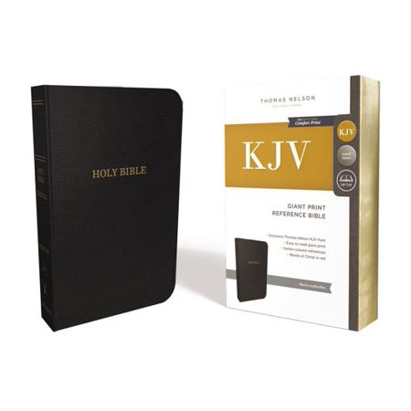 KJV, Reference Bible, Giant Print, Leather-Look, Black, Red Letter
