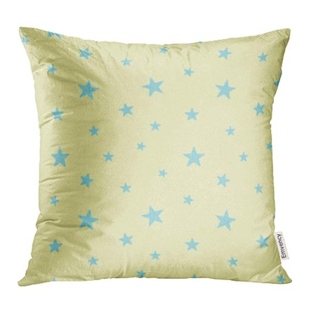 YWOTA White Baby Star Cute Blue on Yellow Babies 10 Abstract Artistic Bright Cartoon Pillow Cases Cushion Cover 18x18 inch](Yellow Star)