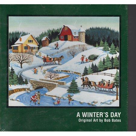 - A Winter's Day - Original Art By Bob Bates - 500 Piece Jigsaw Puzzle, Original Art By Bob Bates By Puzzle Makers