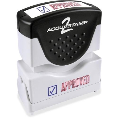 "Consolidated Stamp Cosco 2-color APPROVED Message Stamp - Message Stamp - ""APPROVED"" - Red, Blue - Rubber Grip - 1 Each"
