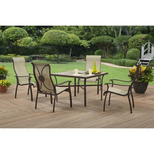 Better Homes and Gardens Alicia Bay 5pc High Story Back Sling Dining ...