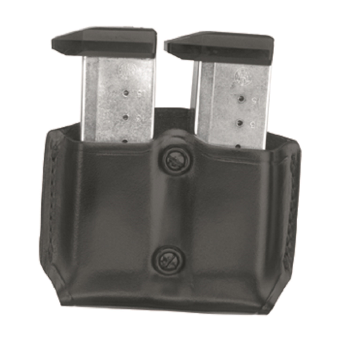Gould and Goodrich B831-4 Gold Line Double Magazine Case, Black