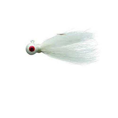 Click here to buy Eagle Claw Bucktail Jig 1 8 4ct White ECJB18-W.