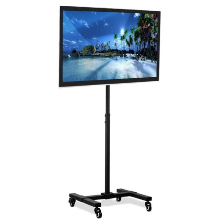 Mount-It! TV Floor Stand Portable TV Pedestal Display With Wheels Fits LCD LED 13