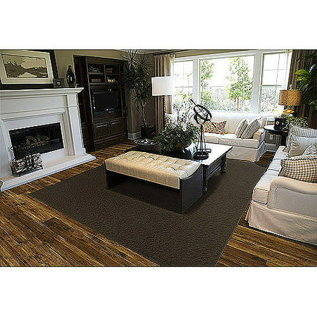 Garland Ivy Pattern Area Rug Brown Anti Fatigue Dry Area