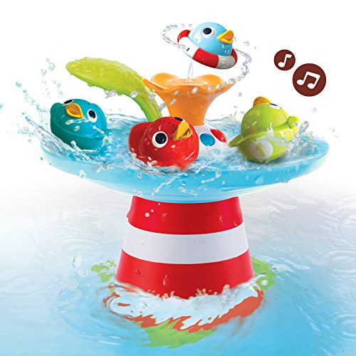 Bath Toy Musical Duck Race With Auto Fountain Water