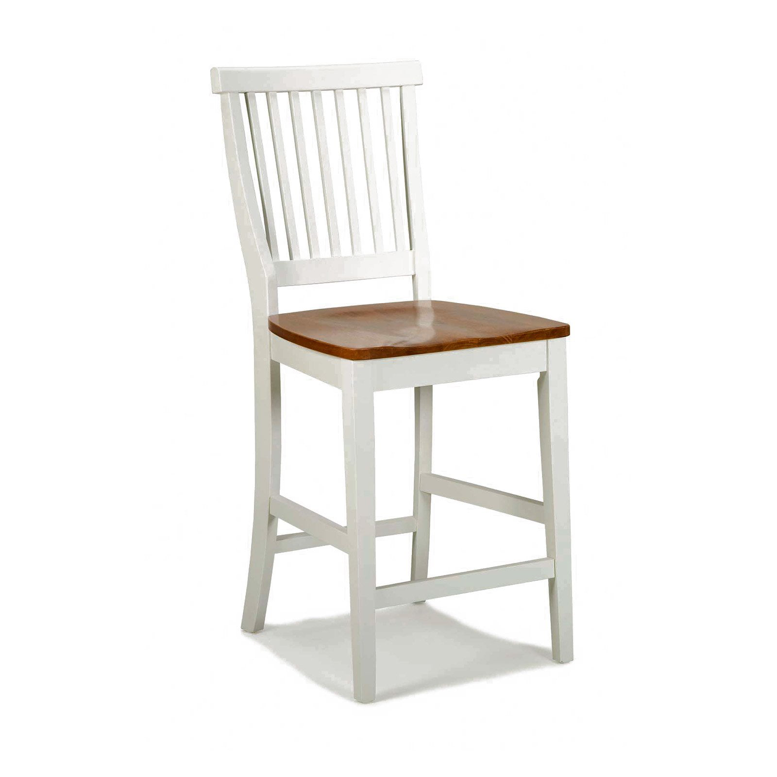 """Walmart Counter Stools: Home Styles Wood Counter Stool 24"""", White And Cottage Oak"""