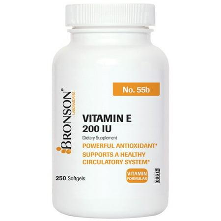Bronson vitamine E 200 UI, 250 Gélules