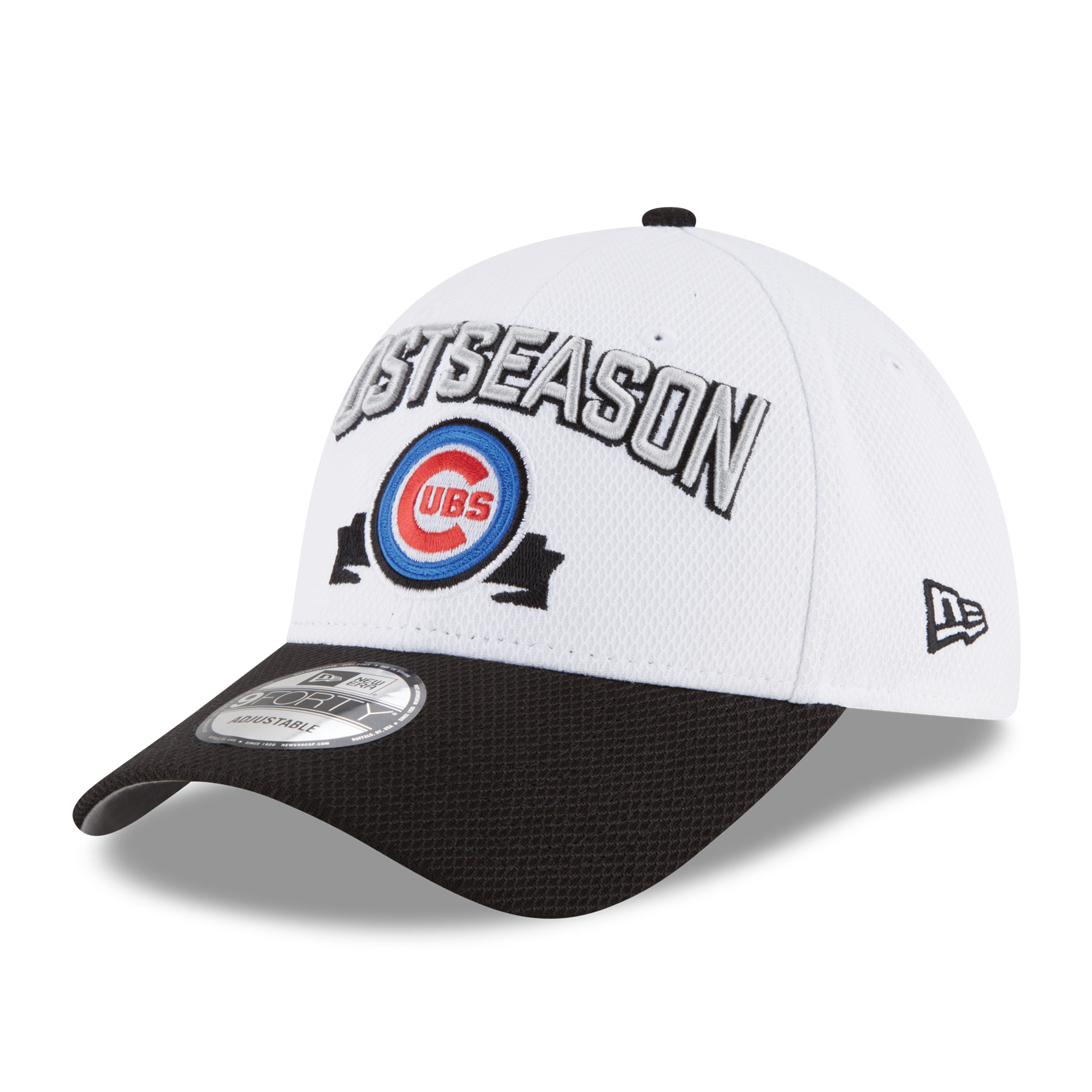 Chicago Cubs New Era 2016 Division Series Winner Locker Room 9FORTY Adjustable Hat - White - OSFA