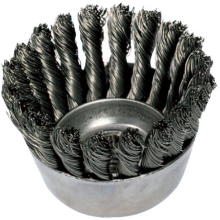 "Image of 2-3/4"" KNOT WIRE CUP BRUSH .020 CS WIRE 5/8-11 T"