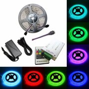 LED4Everything (TM) 5M SMD RGB 5050 Waterproof 300 LED Strip Light 20 Key RF Remote 12V 5A Power Kit