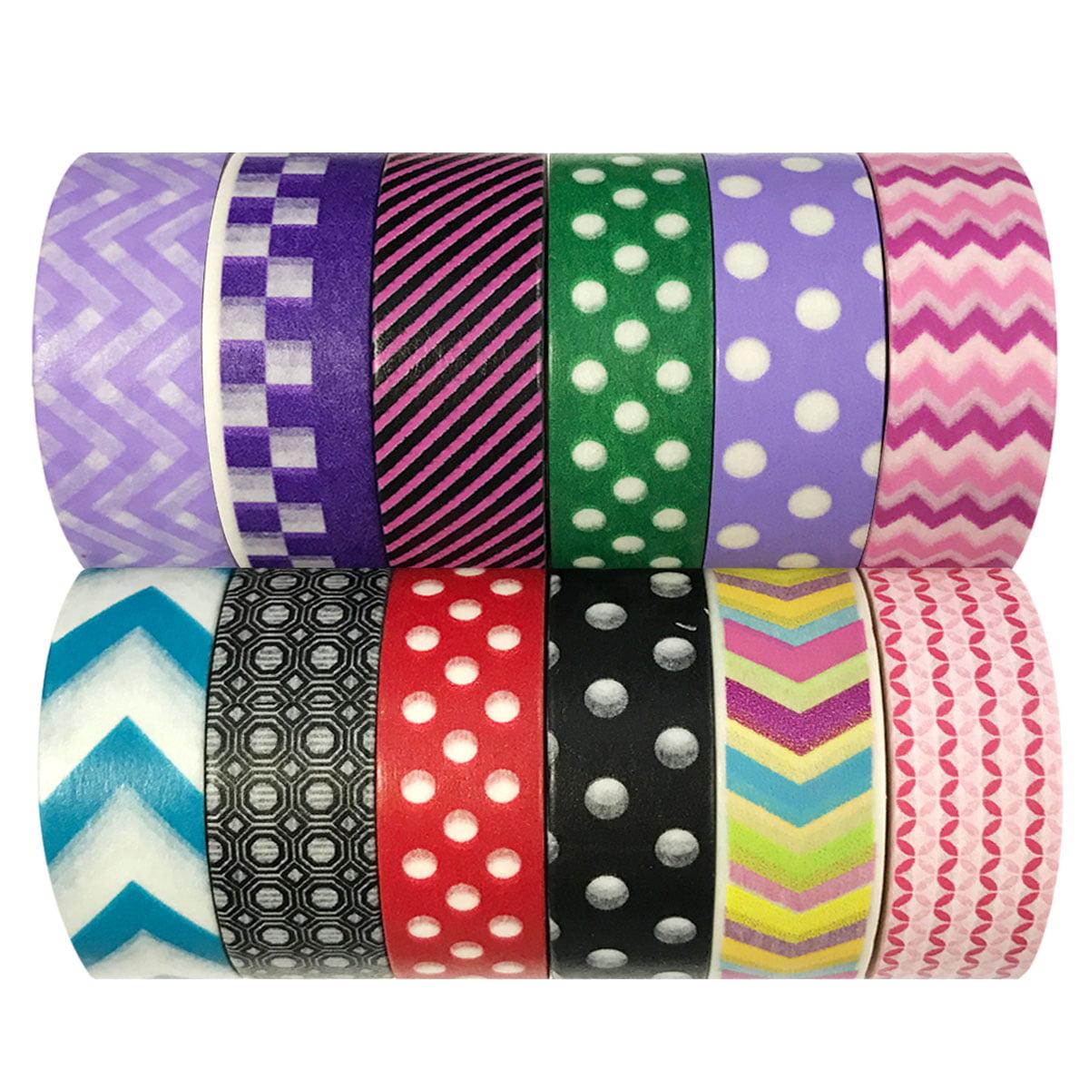 Wrapables® WPSET71 Washi Masking Tape Collection (Set of 12)