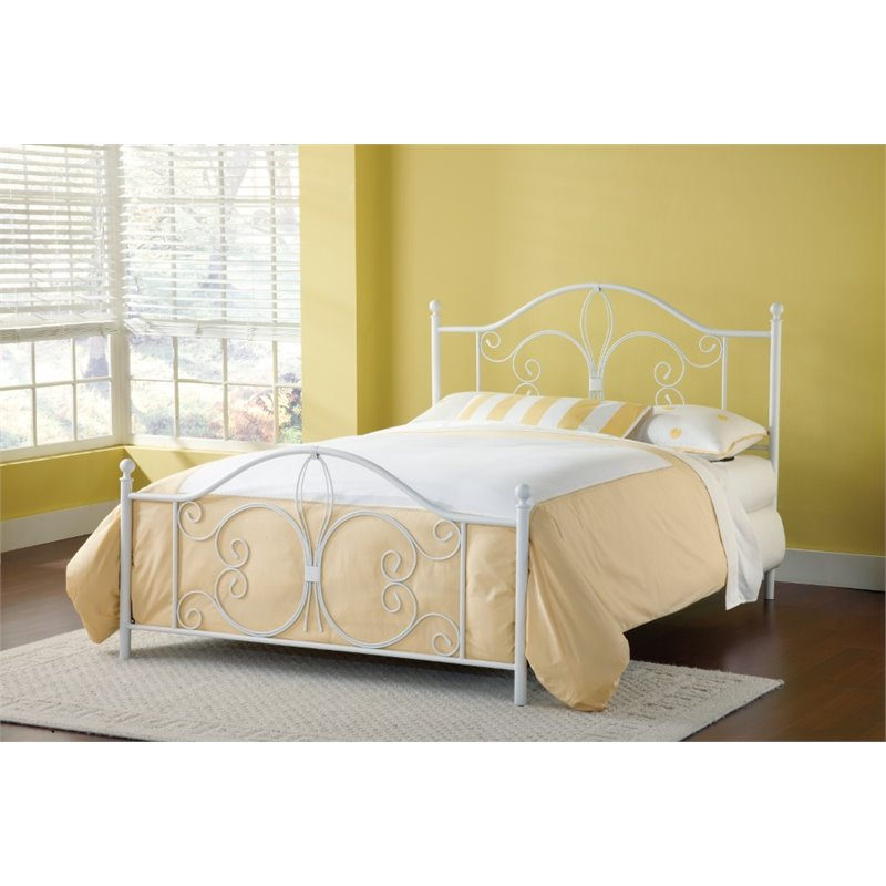 Hillsdale Ruby King Poster Bed in Textured White