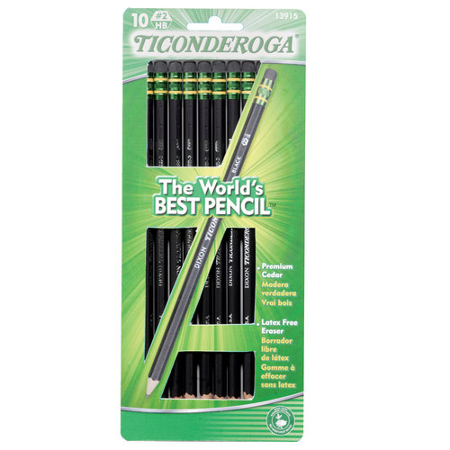 ticonderoga black personals Amazoncom : ticonderoga wood-cased graphite pencils, #2 hb soft, black, 24  count (13926) : wood lead pencils : office products.