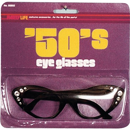 50s Style Glasses Halloween Accessory