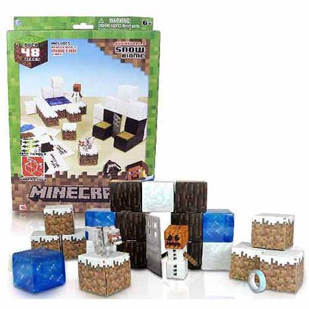 Minecraft Papercraft Snow Activity -