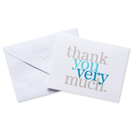 Halloween Thank You Ideas (American Greetings Blue and Gray Thank You Cards and Envelopes,)