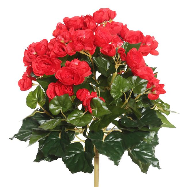 Orange Begonia Floral Bush - 15.25 in.